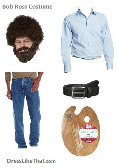bob ross costume ideas