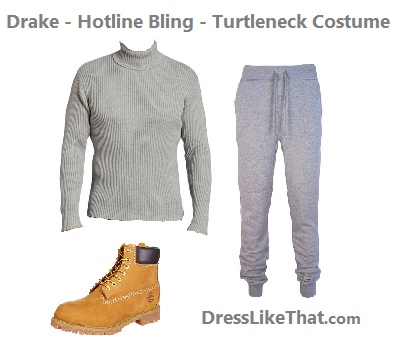 drake - hotline bling - turtleneck costume ideas