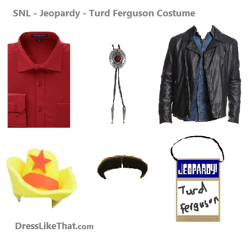 snl - jeopardy - turd ferguson costume ideas