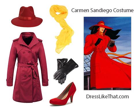 Carmen Sandiego Costume Dress Like That