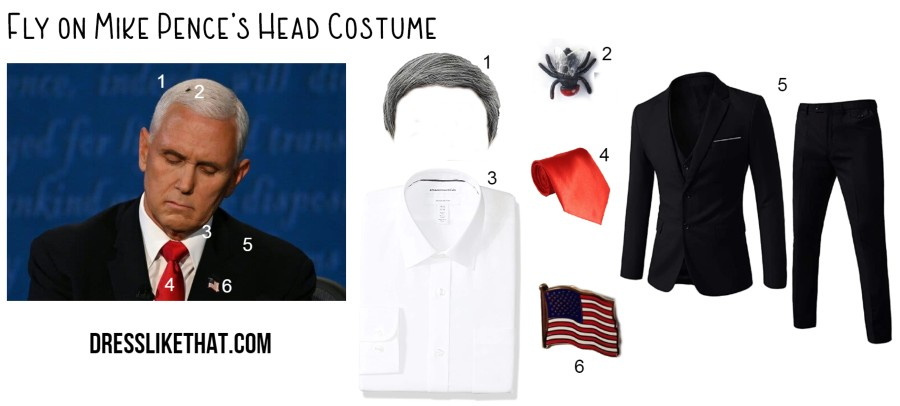 fly on mike pence's head costume
