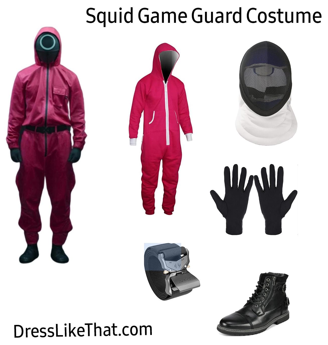 squid game - guard costume items